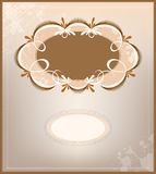 Victorian ornamental background and frame Stock Photography