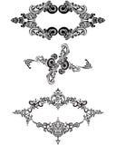 Victorian Ornaments. Victorian Ornament designs. Retro style Stock Photo