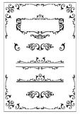 Victorian ornate design elemen Stock Photos