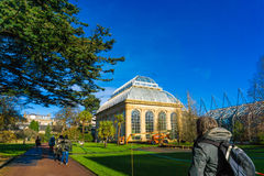 The Victorian Palm House at the Royal Botanic Gardens Royalty Free Stock Images
