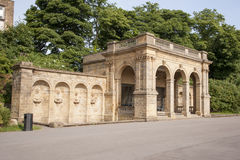 Victorian park structures Stock Photo