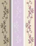 Victorian pattern. In different colors Royalty Free Stock Photos