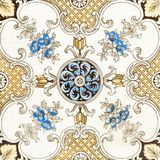 Victorian Patterned Tile Royalty Free Stock Photography