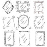 Victorian photo frames hand drawn Stock Photography