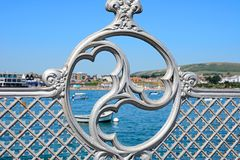 Victorian pier design, Swanage. Royalty Free Stock Images