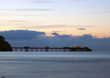 Victorian pier at Llandudno, North Wales Stock Photography