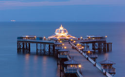 The victorian pier at Llandudno, North Wales Royalty Free Stock Photos