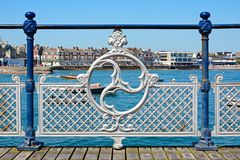 Victorian pier railings, Swanage. Royalty Free Stock Photo