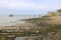 Victorian pier and sea shore Royalty Free Stock Photos