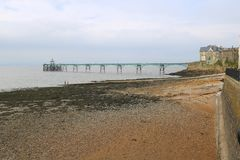 Victorian pier and sea shore Royalty Free Stock Photography