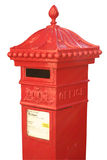 Victorian post box. English Victorian hexagonal post box Stock Photography