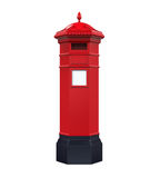 Victorian Post Box. Isolated on white background. 3D render Stock Image