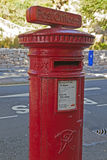Victorian post box postbox office sign VR Torquay Stock Photo