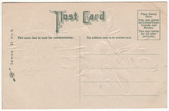 Victorian 1910 Post Card Back Green Font Royalty Free Stock Photography