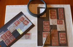 Victorian postage stamps 4 Royalty Free Stock Images