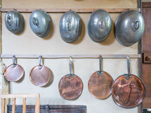 Victorian Pots and pans Stock Image