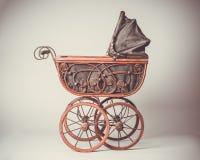 Victorian Pram. Old Victorian pram with vintage tone Royalty Free Stock Image
