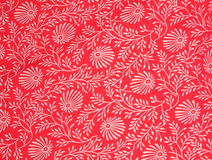 Victorian Print with a Wrinkle. Close-up of a Victorian Florlal Print with a wrinkle Royalty Free Stock Photo