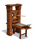 Victorian Printing Press royalty free illustration