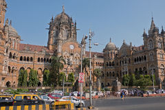 Victorian railway terminus in Mumbai Royalty Free Stock Photos