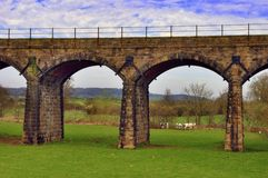 Victorian railway viaduct Royalty Free Stock Images