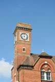 Victorian red brick clock tower Stock Photo
