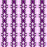 Victorian Renaissance Stripes Seamless Pattern. Renaissance victorian graphical purple loops texture forming vertical stripes. Seamless texture pattern Royalty Free Stock Photography