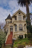 Victorian residential building in San Francisco. One of the classic victorian houses in Haight Ashbury neighborhood in San Francisco Royalty Free Stock Photography