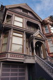 Victorian residential building in San Francisco. One of the classic victorian houses in Haight Ashbury neighborhood in San Francisco Royalty Free Stock Images