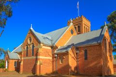 York Anglican Church. Victorian Romanesque style Holy Trinity Anglican Church completed in 1854 in York, a popular tourist town east of Perth, Avon Valley.York Royalty Free Stock Photo