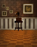 Victorian room with gramophone Stock Photos