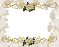 Victorian Roses Wedding Invitation Stock Photo