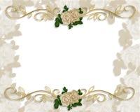 Victorian Roses Wedding Invitation royalty free illustration