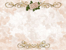 Victorian Roses Wedding Invitation Royalty Free Stock Images