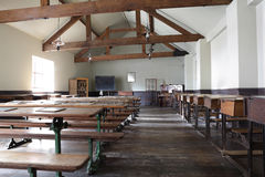 Victorian school classroom Royalty Free Stock Images