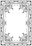 Victorian scroll art frame Stock Photography