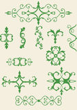 Victorian scroll elements Stock Image