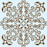 Victorian scroll flower Stock Photography