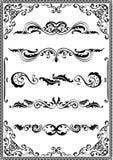 Victorian scrolls. Ornamente on white Royalty Free Stock Photo