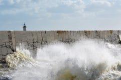 Victorian sea wall defence. Stock Photo