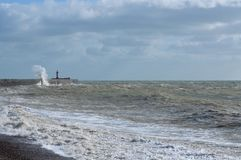 Victorian sea wall defence. Royalty Free Stock Images