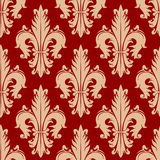 Victorian seamless fleur-de-lis red pattern Stock Image