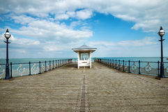 Victorian Seaside Pier. A victorian seaside pier at Swanage in Dorset Stock Photo