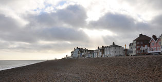 Victorian seaside view. Traditional English victorian seaside town Stock Photo