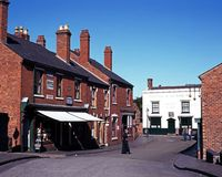Victorian shopping street, Dudley. Stock Photography