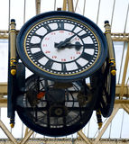 Victorian station clock Royalty Free Stock Photography