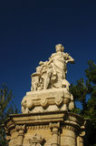 Victorian statue. In a park in Barcelona Stock Photo
