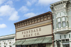 Victorian storefronts in Ferndale, USA Royalty Free Stock Image