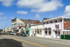 Victorian storefronts in Ferndale, USA Royalty Free Stock Photos