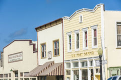 Victorian storefronts in Ferndale, USA Royalty Free Stock Images